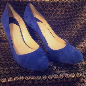 Electric Blue (faux suede) heels.